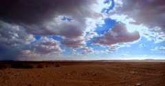 Dramatic Time lapse of a desert storm approaching Sossusvlei,Namibia.