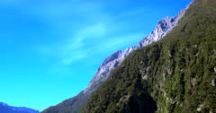 Rugged mountain tops at Milford Sound