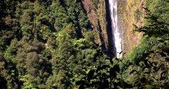 Tilt shot up the length of the long Humboldt Falls.
