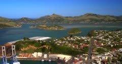 Reveal Aerial shot of Port Chalmers,Dunedin