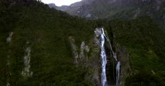 Bowen Falls,Waterfall at Milford Sound.