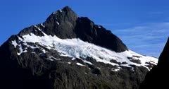 A Fiordland hill covered in snow