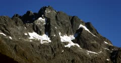 A Fiordland hill with snow patches
