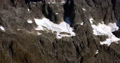 A pan across a Fiordland hill with snow patches