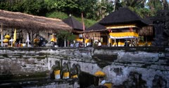 The fountains of Holy water at Goa Gajah, Elephant Cave,Elephant Temple.