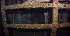 Leaking Oil trapped in the ceiling of the Yamagiri Maru