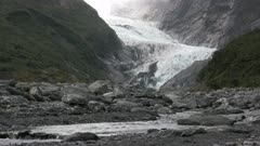 franz josef glacier located in Westland Tai Poutini National Park on the West Coast of New Zealand's South Island.
