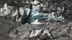 the glacier terminus of franz josef glacier on the west coast of new zealand