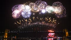 countdown to the sydney new years eve fireworks filmed in 4K
