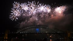 finale of sydney nye fireworks 2014 filmed in 4K
