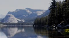 the view of lake tenaya near tuolumne meadows in yosemite national park