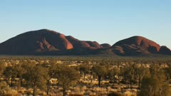 panning shot of kata tjuta in australia's northern territory