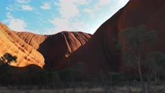 a close up of mutijulu at uluru/ayers rock in australia's northern territory