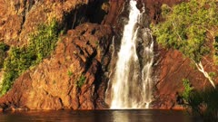 close up of the base of wangi waterfalls in litchfield national park near kakadu