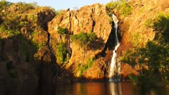 wangi waterfalls in litchfield national park near kakadu in the late afternoon