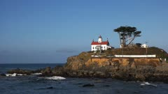 the lighthouse at crescent city along the northern california coast