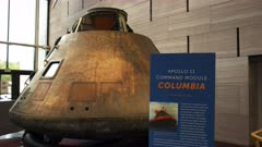 a view of the apollo 11 command module in washington, dc