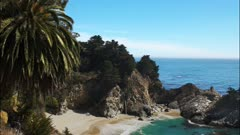 spectacular mcway falls on the california coast in big sur