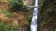 down tilt of the lower section of multnomah falls in portland oregon