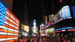 the vibrant times square in new york at night