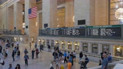 the departure boards inside grand central station in new york