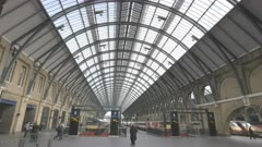 an interior view of kings cross railway station in london, england