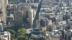 the view of the flat iron building from empire state