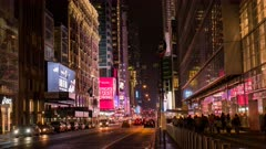 time lapse of traffic on W 42nd street in manhatten, new york