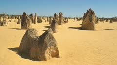 the pinnacles, unusual rock formations near perth in western australia