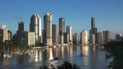 morning view of the city of brisbane from kangaroo point