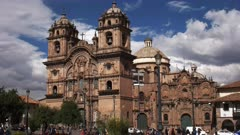 exterior view of the church of the society of jesus in the city of cusco, peru