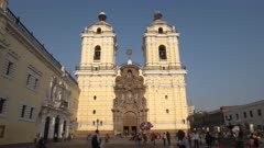 afternoon shot of the monastery san francisco in lima, peru