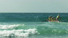 noosa heads surf boat racing  in the 2016 national championships on the sunshine coast of australia