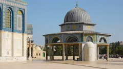 dome of the chain prayer house at the temple mount in jerusalem, israel