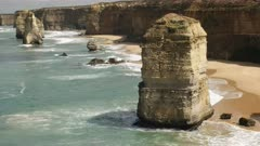 close up of one of the twelve apostles at port campbell on the great ocean road in victoria, australia