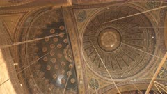 pan of the ceiling of the historic alabaster mosque in cairo, egypt