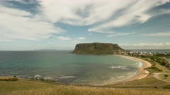 afternoon time lapse of the nut in stanley, tasmania