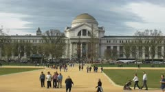 exterior of the smithsonian natural history museum building in washington d.c.