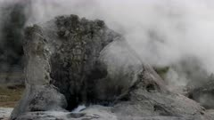 close up of giant geyser in yellowstone national park, usa