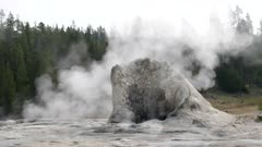 giant geyser in yellowstone national park, usa