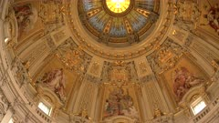 a close up of the decorated interior of berlin cathedral dome in berlin, germany
