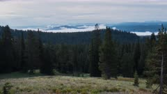 an early morning time lapse from dunraven pass in yellowstone national park, usa