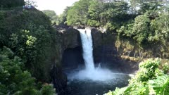 morning view of rainbow falls on the big island of hawaii in the united states of america
