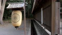 a paper lantern at meiji jingu shrine in tokyo, japan