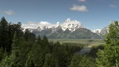morning view of grand teton from the snake river overlook in grand teton national park in the united states