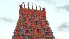 close up of the front of the sri siva subramaniya hindu temple in nadi, fiji