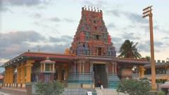 oblique view of the colorful sri siva subramaniya hindu temple in nadi, fiji