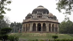 the tomb of muhammad shah at lodi gardens in new delhi, india