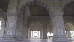 zoom in on diwan-i-khas chamber at red fort in old delhi, india