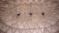 a close pan of safdarjung's tomb's ceiling in delhi, india